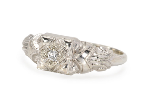 Flattering Diamond Ring