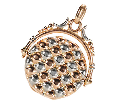 Antique Platinum Rose Gold Spinner Locket