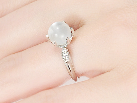 Celestial Panorama: Moonstone Diamond Ring