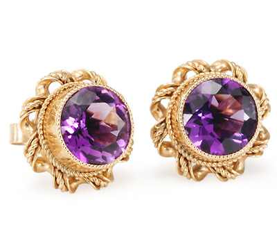 Art Deco Royale: Amethyst Earrings
