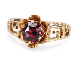 The Key to Riches - Vintage Garnet Ring