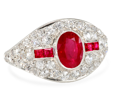 Maharajah's Bounty - Ruby Diamond Ring