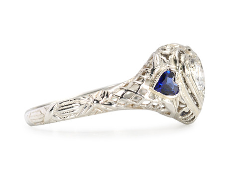 Hearts Aflame - Vintage Diamond Ring