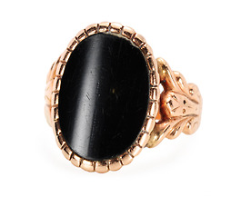 Powerful Rose Gold Onyx Ring