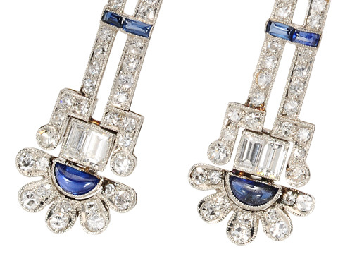 Electric Empire - Art Deco Diamond Earrings