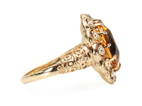 Contentment in a Citrine Diamond Ring