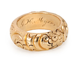 Worth its Weight - Victorian Wide Gold Band