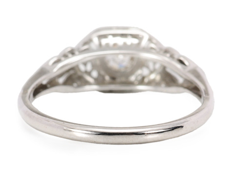English Art Deco Solitaire Diamond Ring