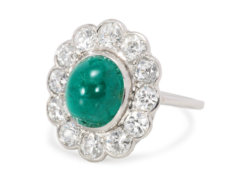 The Illusive Emerald - Cluster Ring Exceptional