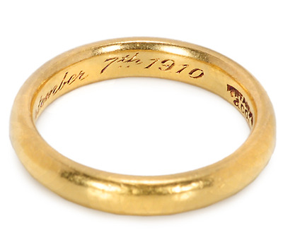 Tiffany & Co a la 1910 - Gold Wedding Ring