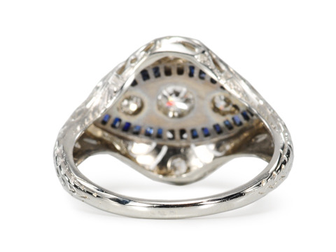 Distinctive Vintage Sapphire Diamond Ring