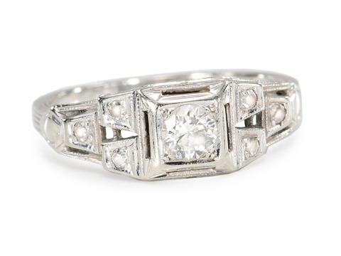 Worlds Align - Diamond Art Deco Ring