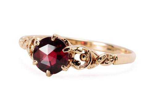 Beholden to You - Garnet Gold Ring