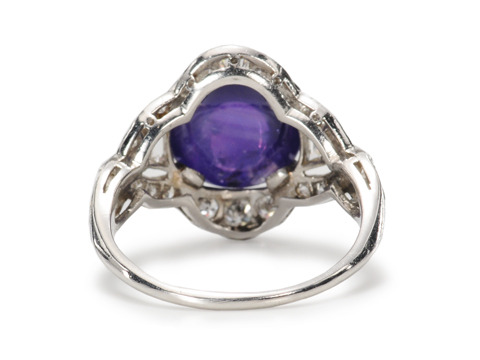 Art Deco No Heat Star Sapphire Ring