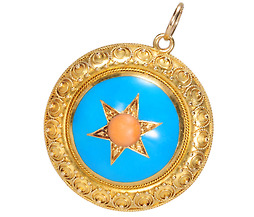 Grand Victorian Era Pendant with Locket Back