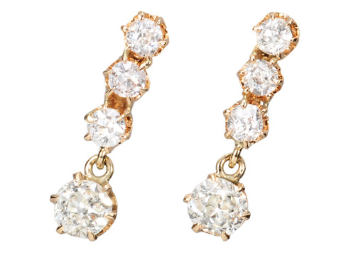 River of Diamonds: Edwardian Earrings
