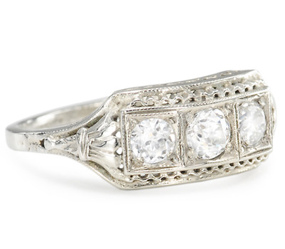 Triple Treat: Art Deco Diamond Ring