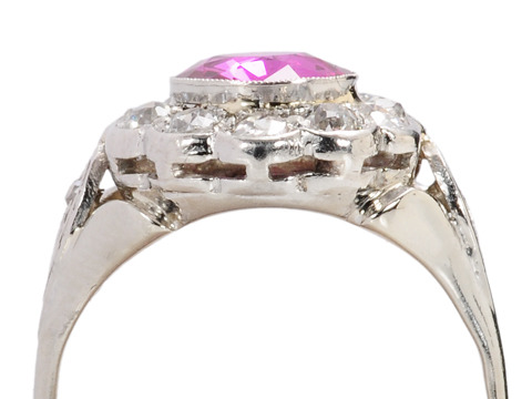 In the Pink: Art Deco Sapphire Diamond Ring