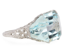 Heaven: An Aquamarine & Diamond Ring