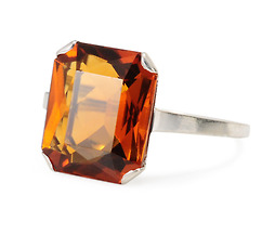 Sunflower in Bloom: Citrine Ring