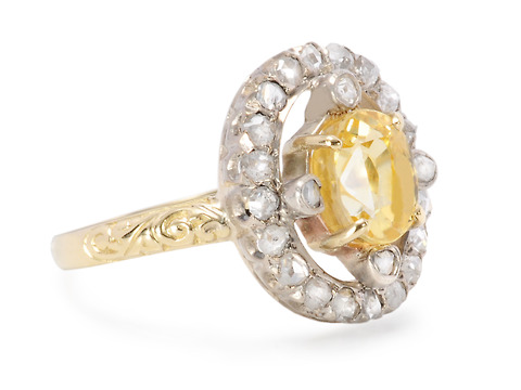 Unexpected: Vintage Yellow Sapphire Ring