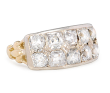 Art Deco French Cut Diamond Ring