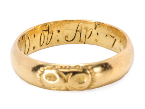 Memento Mori Skull Ring Dated 1704