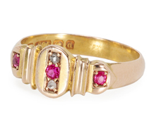 A Treat of a 1903 English Ruby Diamond Ring