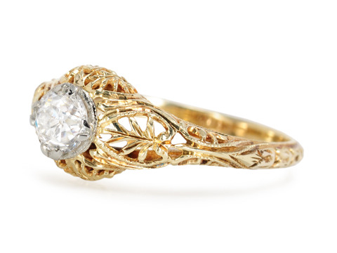 Diamond Sunset Antique Ring
