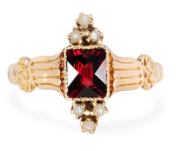 Gem of a Ring with Garnets & Pearls