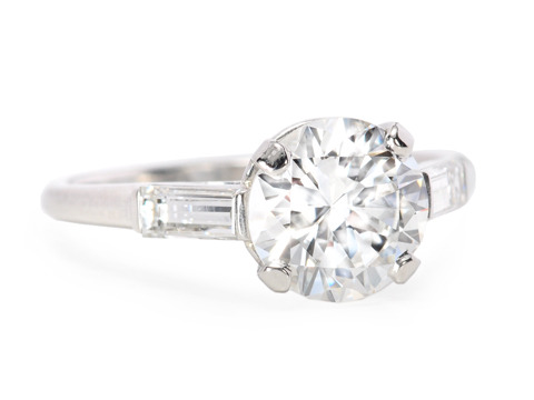 Sheer Marvel -1.64 ct Vintage Diamond Ring