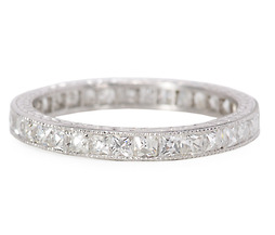 Vintage French Cut Diamond Eternity Band