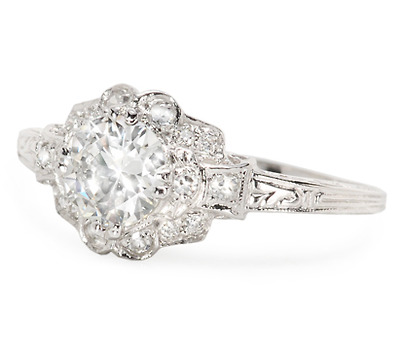 Sparkling White Diamond Engagement Ring