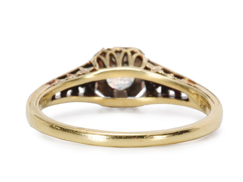 Au Courant Vintage Diamond Solitaire Ring