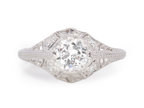Outstanding: Vintage Diamond Engagement Ring