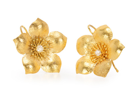 Suncatcher: Antique Diamond Blossom Earring