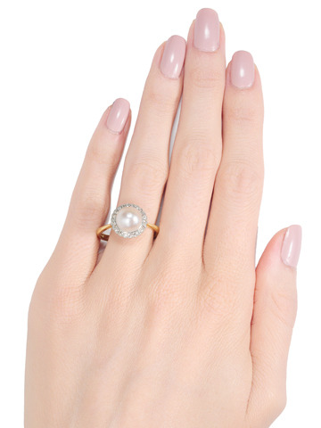 Imagine: South Sea Pearl & Diamond Ring