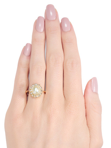 Essence of Edwardian: Pearl Diamond Ring