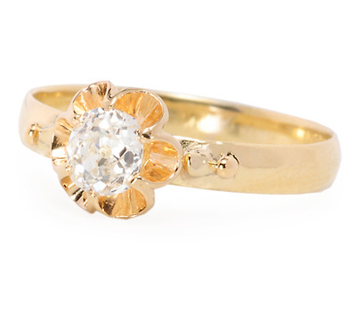 Buttercups & Diamonds in an Edwardian Ring