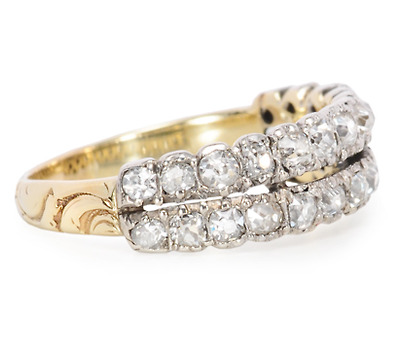 Victorian Diamond Half Eternity Band