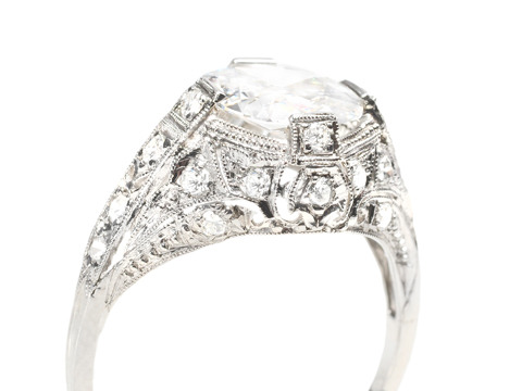 Elysian Dreams in an F Color Diamond Ring