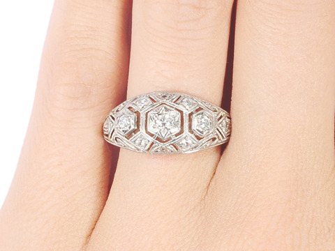 Diamond Studded Edwardian Ring