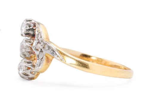 Feminine Ice in an Antique Diamond Ring