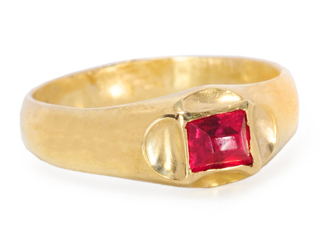 Very Scarce 16th C. Ruby Ring