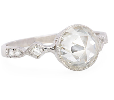 Dreamy Rose Cut Diamond Ring