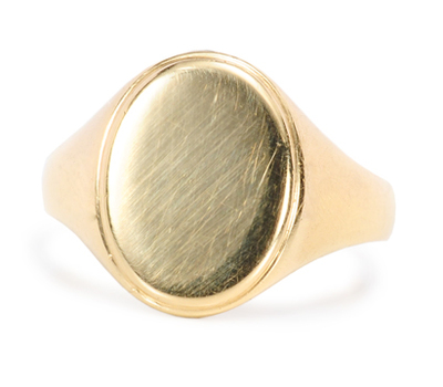 Antique French Signet Ring with Locket