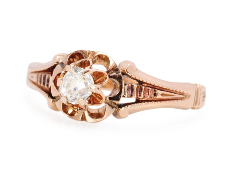 Victorian Diamond Buttercup Ring