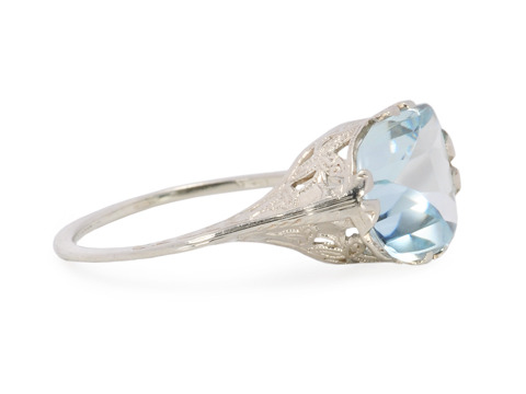 Pastel Glow in a Vintage Aquamarine Ring