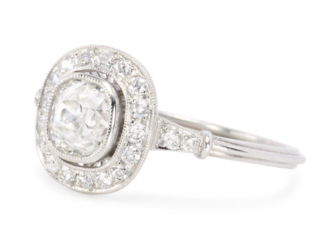 Deservedly So: Halo Diamond Cluster Ring