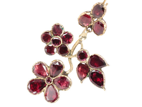 Stunning Georgian Almandine Garnet Earrings